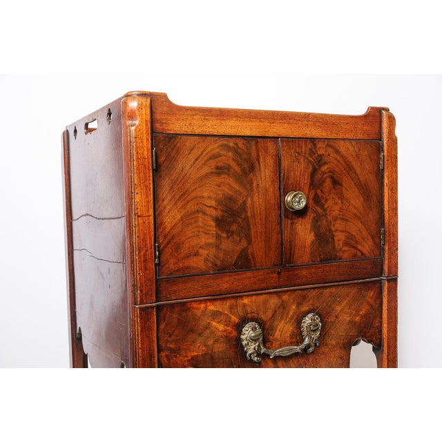 Antique English Night Stand For Sale In West Palm - Image 6 of 9