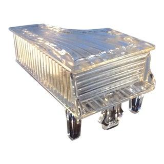 Vintage Glass Candy Dish. Grand Piano. Glass Trinket Box