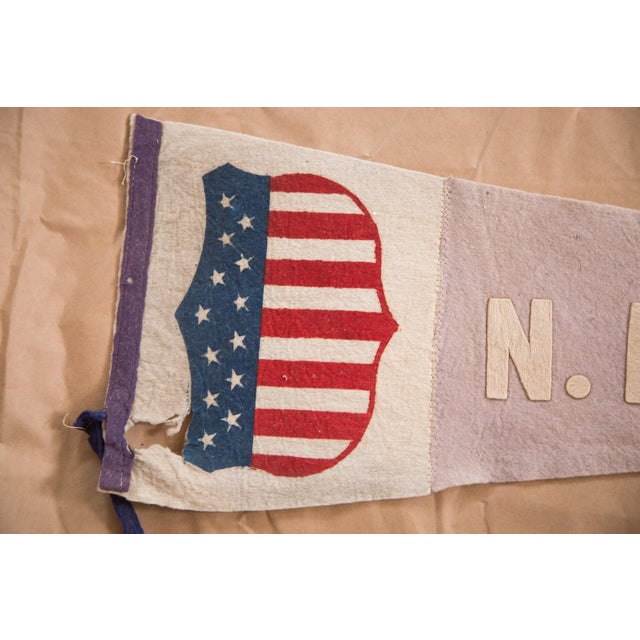 Antique NE Fair Felt Flag Pennant For Sale - Image 4 of 5