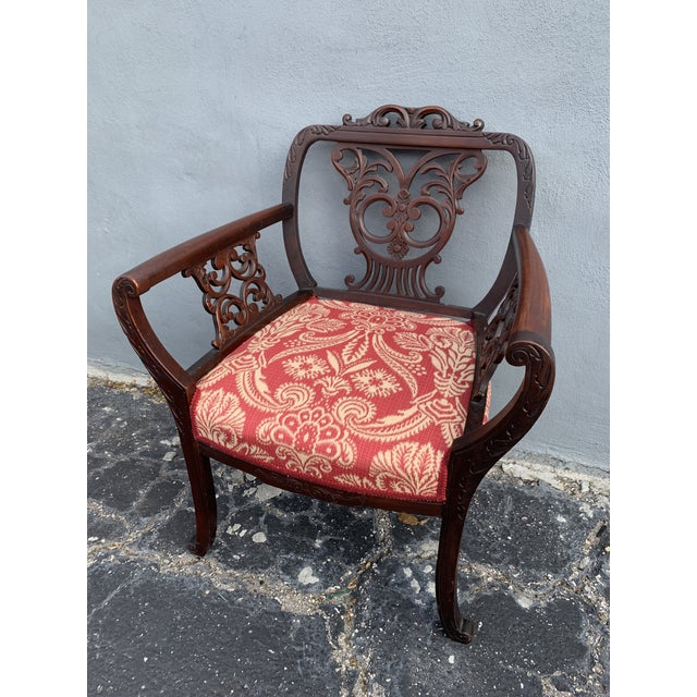 Gothic Antique Jacobean Accent Chair For Sale - Image 3 of 13