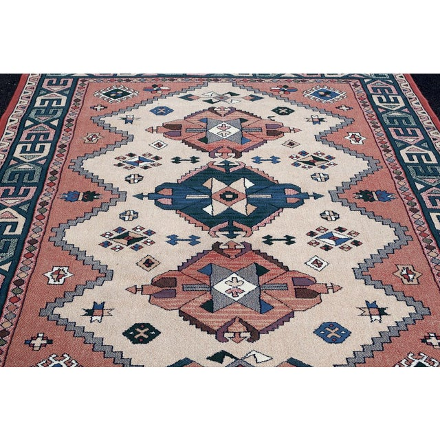 Aztec Style Rug - 5′6″ × 7′10″ For Sale In Washington DC - Image 6 of 9