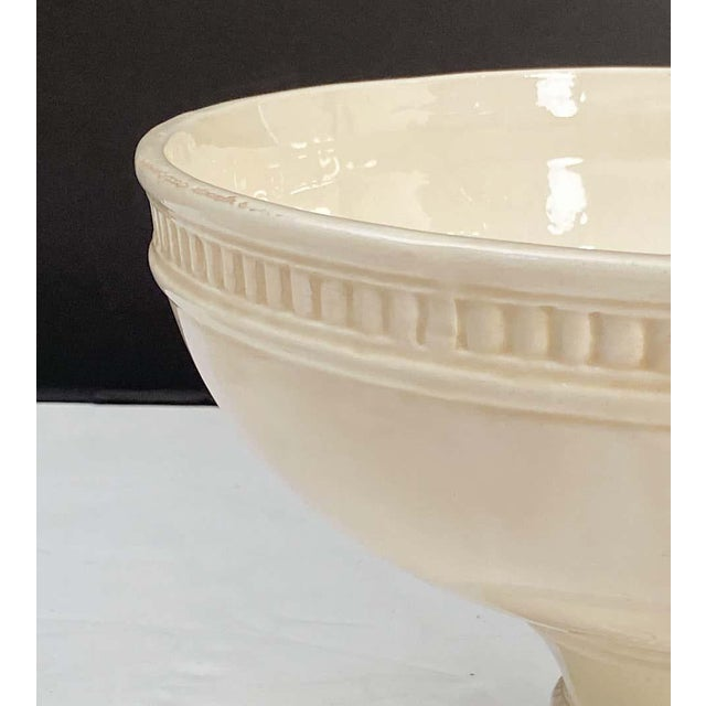 Mid 20th Century Italian Creamware Tureen or Bowl on Pedestal With Mixed Fruit Topiary Top For Sale - Image 5 of 13