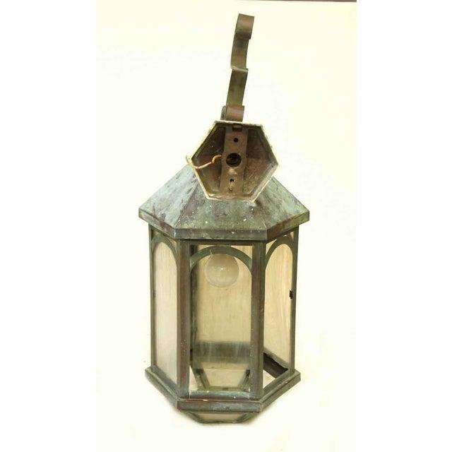 Antique Lantern Sconce For Sale - Image 9 of 9