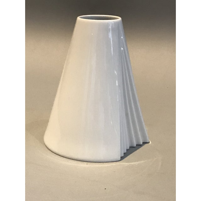 Rosenthal Ambrogio Pozzi, Rosenthal Geometric Op Art Lady's Gown Porcelain Vase For Sale - Image 4 of 9