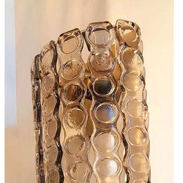 Large Murano Smoked Glass Sconces Mid-Century Modern - a Pair For Sale In Boston - Image 6 of 9