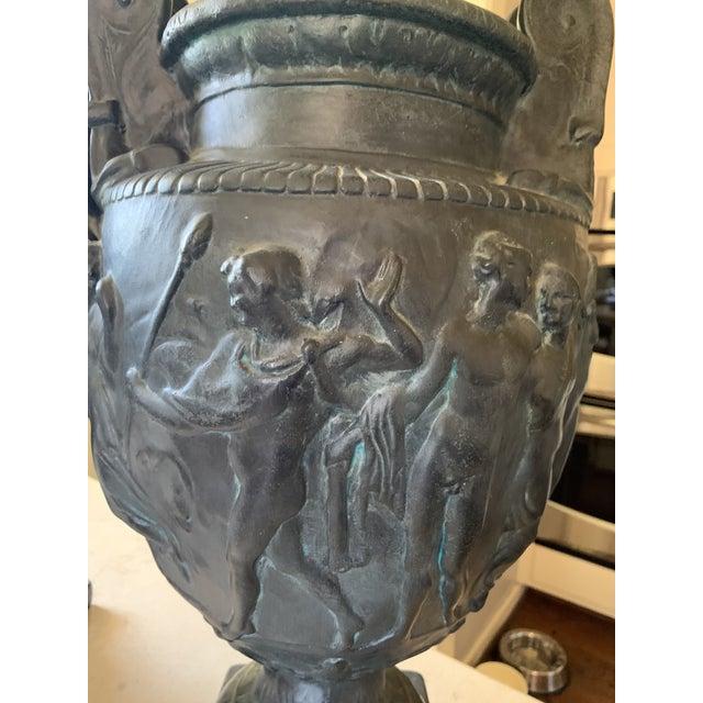 Vintage Plaster Greek Amphore Urns - a Pair For Sale - Image 11 of 13