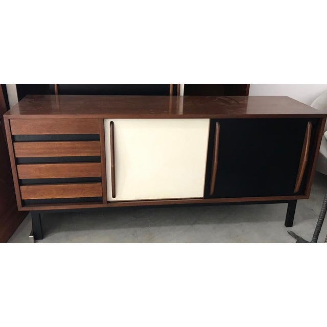 1950s 1958 Mid-Century Modern Charlotte Perriand for Steph Simon Cansado Cabinet For Sale - Image 5 of 5