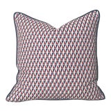 Image of Schumacher Mid-Century Modern Frank Lloyd Wright Designer Pillow Cover With Navy Piping - 20x20 For Sale