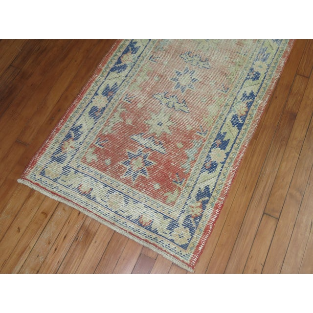 Distressed Turkish Oushak Runner Rug - 2'5'' x 10'9'' For Sale - Image 5 of 8