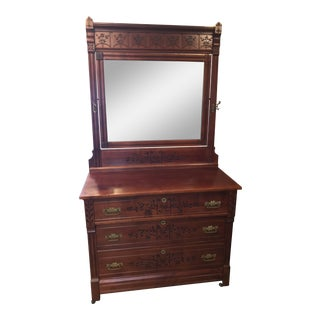 East Lake American Victorian Mahogany Dresser