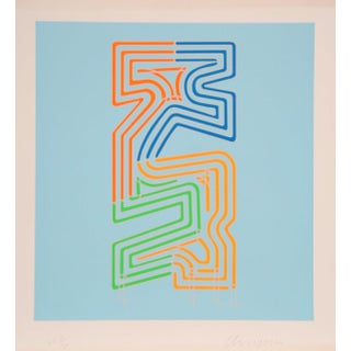 "Chryssa, ""Series 5"", Abstract Screenprint For Sale"
