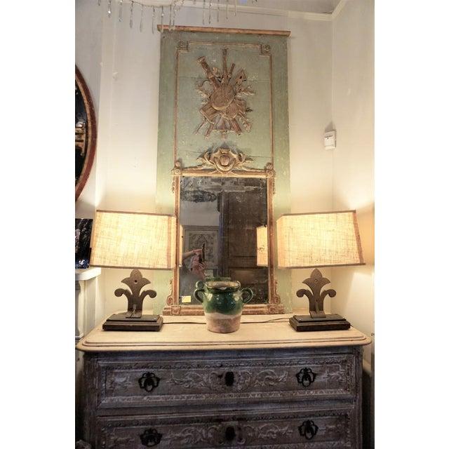 Louis XVI Trumeau Mirror For Sale - Image 10 of 11