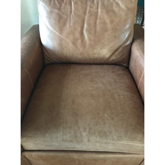 Ethan Allen Distressed Leather Hudson Club Chair - Image 7 of 7