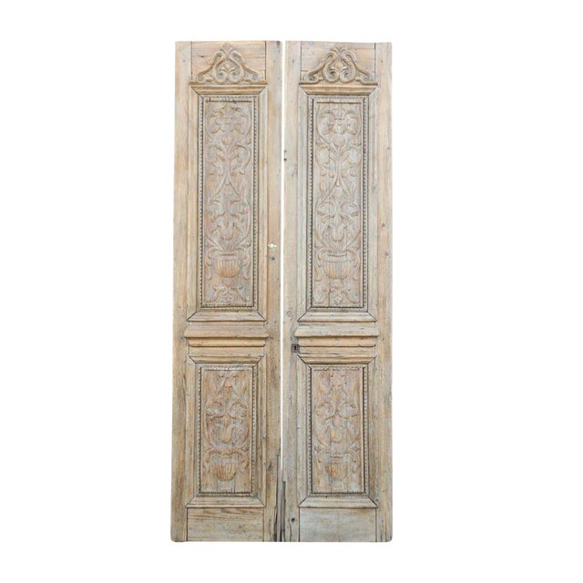 Grand Antique Indo French Doors For Sale