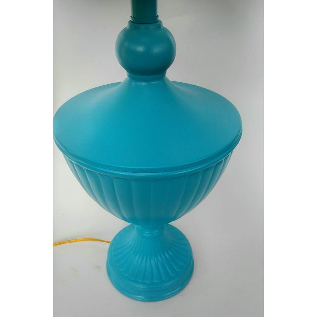 Hollywood Regency Turquoise Urn Table Lamp For Sale - Image 5 of 6