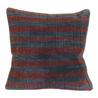 Turkish Kilim Rug Pillow Cover For Sale