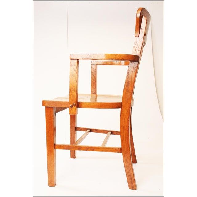 Heywood Wakefield Vintage Wood Banker Chair For Sale - Image 5 of 11 - Heywood Wakefield Vintage Wood Banker Chair Chairish