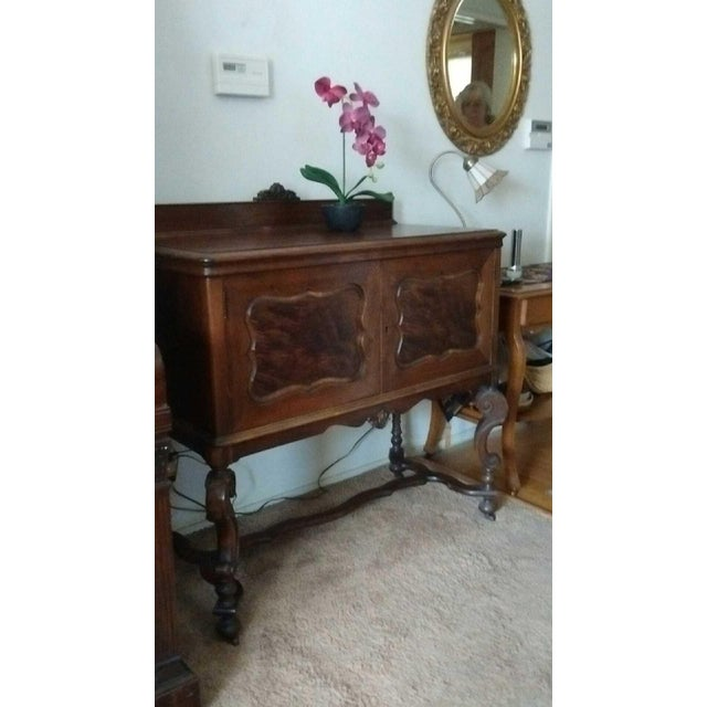 Antique Serpentine Sideboard Buffet - Image 7 of 10
