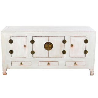 """19th Century Chinese 61"""" Long Buffet Sideboard Cabinet For Sale"""