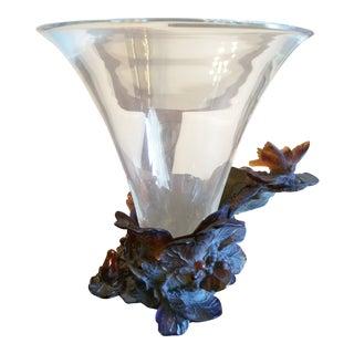 Daum France Butterfly Vase