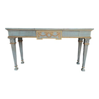 Vintage Louis XVI Style Karges Painted Console Table For Sale