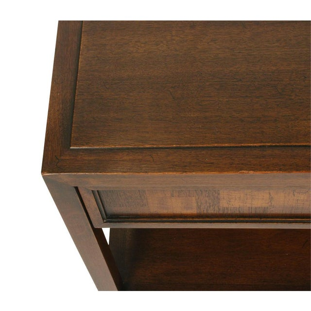 1950s Pair Mahogany Parquet Lamp Tables for John Stuart For Sale - Image 5 of 7
