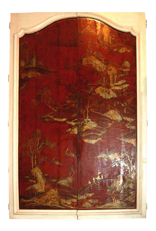 18th Century Mounted Chinoserie Lacquered Doors - a Pair  sc 1 st  Chairish & Vintage u0026 Used Asian Doors and Gates | Chairish
