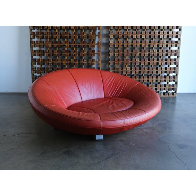 Jane Worthington DS 152 Red Leather Sofa for De Sede For Sale - Image 12 of 13