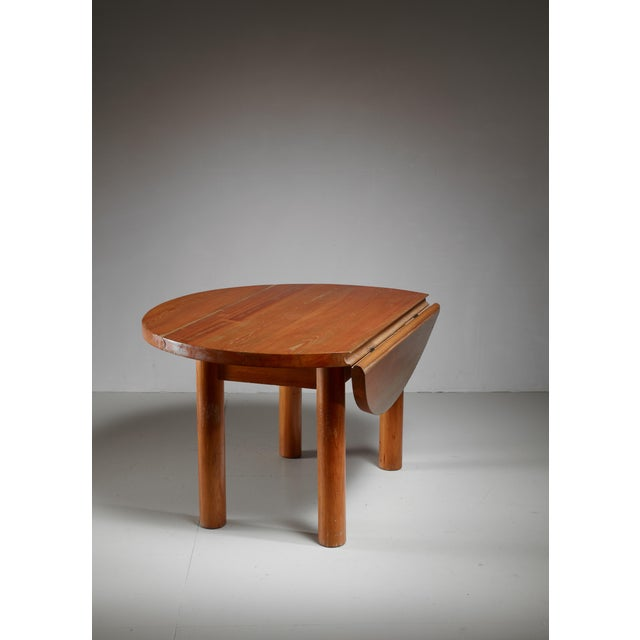 Mid-Century Modern Charlotte Perriand Drop-Leaf Dining Table from the Doron Hotel, France For Sale - Image 3 of 6