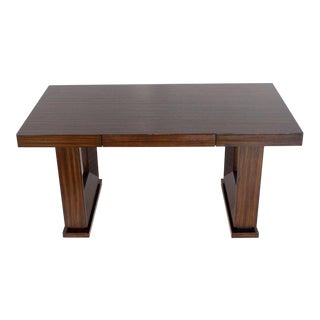 Square Frame Legs Rosewood Mid-Century Modern Writing Table Desk For Sale
