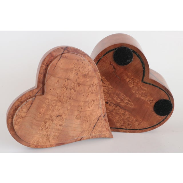 Heart Shaped Wooden Trinket Box For Sale In Madison - Image 6 of 7