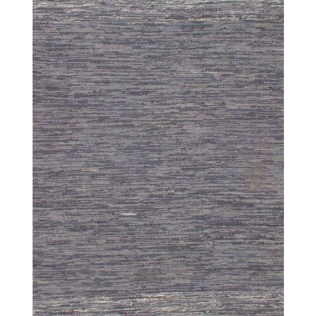 Contemporary Pasargad N Y Genuine Indo Denim Reversible Hand Woven Rug - 10′ × 14′ For Sale - Image 3 of 3