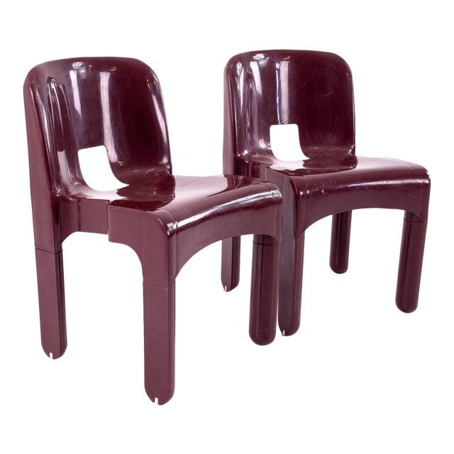 Joe Colombo Kartell Mid Century Plastic Chairs - Pair For Sale