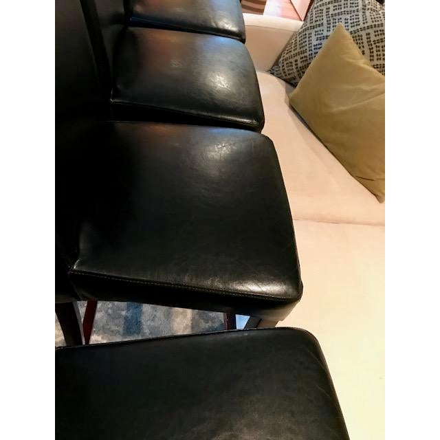 Top-Grain Leather Bar Stools, Classic and Clean-Lined - Set of 4 - Image 9 of 11