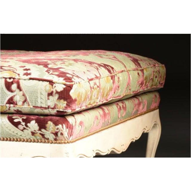 Velvet Chaise Lounge by John Widdicomb - Image 5 of 8