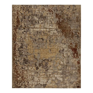 Earth Elements - Customizable Ivory Rust Rug (9x12) For Sale