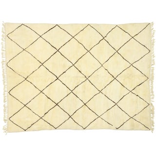 Contemporary Modern Beni Ourain Moroccan Rug - 7′1″ × 9′4″ For Sale