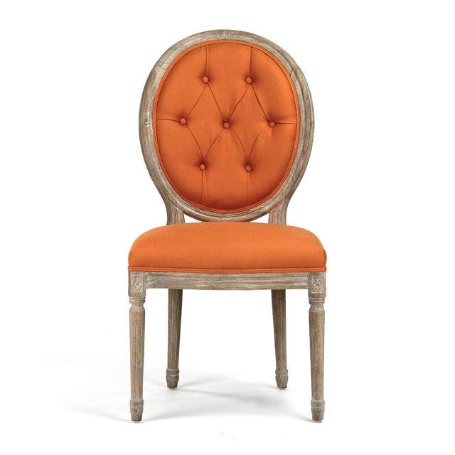 2020s Everest Medallion Tufted Back Side Chair in Orange For Sale - Image 5 of 5