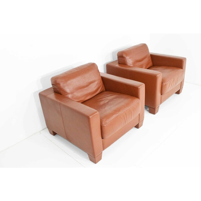 Brown De Sede Leather Lounge Chairs- Set of 4 For Sale - Image 8 of 11