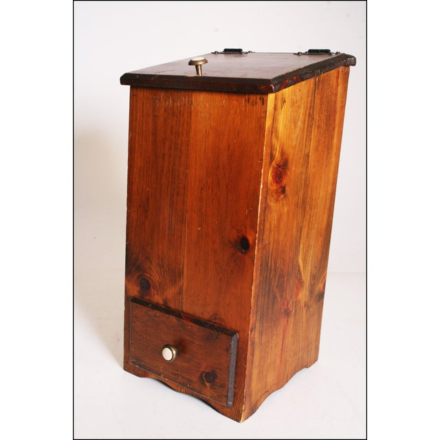 Vintage Rustic Wood Taters & Onions Bin - Image 2 of 11