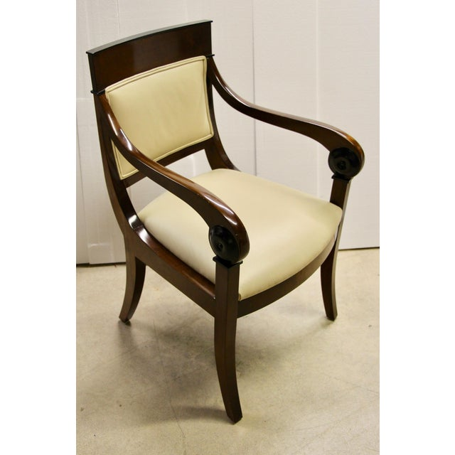 Regency Regency-Style Scroll Arm Chair For Sale - Image 3 of 9