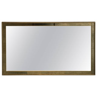 1960s Labarge Faux Bamboo Gilt Mirror With Mercury Glass Border For Sale