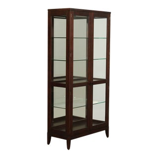 Henkel Harris 460 Modern Cherry Curio Cabinet For Sale