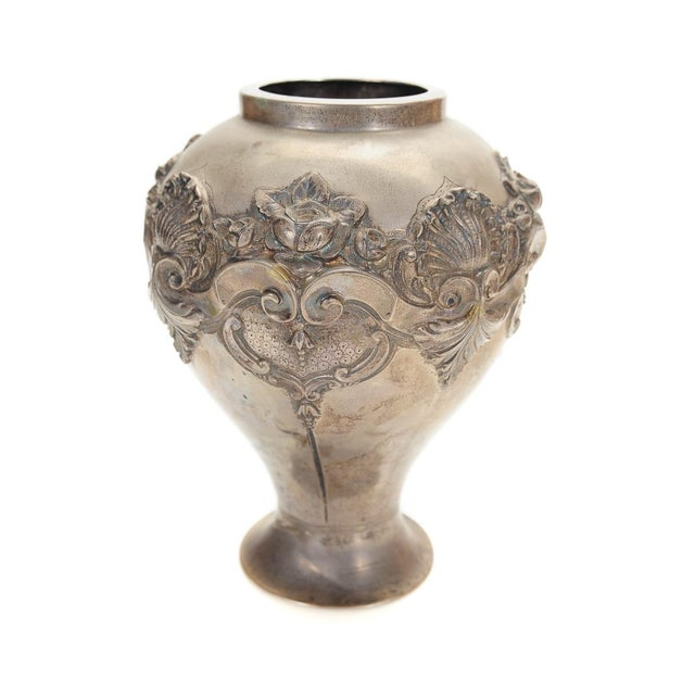 Topazio 19th Century Silver Repousse Vase - Image 8 of 8