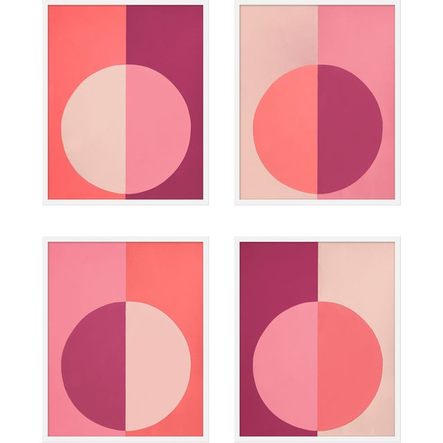 """Contemporary XL """"Pink Forevers, Set of 4"""" Print by Stephanie Henderson, 50"""" X 62"""" For Sale - Image 3 of 3"""