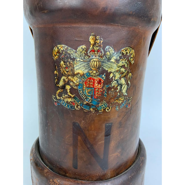 Gothic Early 19th Century Leather Ammunition Bucket For Sale - Image 3 of 13