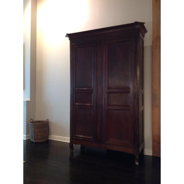 Vintage French Armoire c 1890, in wonderful condition. Removable top moulding 6 inches. Height: 91 inches Depth: 21 inches...