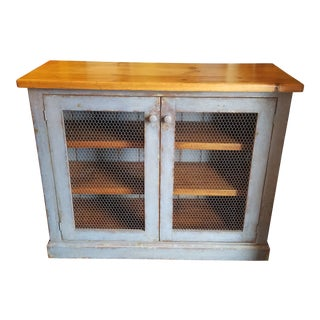 1920s French Blue Two Door Cabinet For Sale