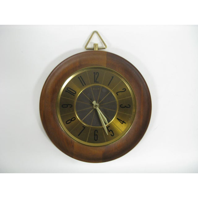1960s Mid Century Modern Elgin Wall Clock For Sale - Image 11 of 11