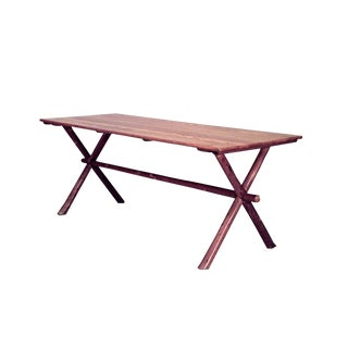 American Rustic Old Hickory Oak Dining 'Picnic' Table For Sale